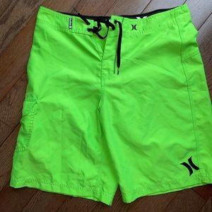 Hurley green board shorts men medium like new M